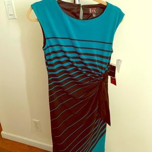 R&K Black/Teal Midi Dress